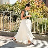A Simple Skirt That Breaks Up a Patterned Tank and Busy Sandals