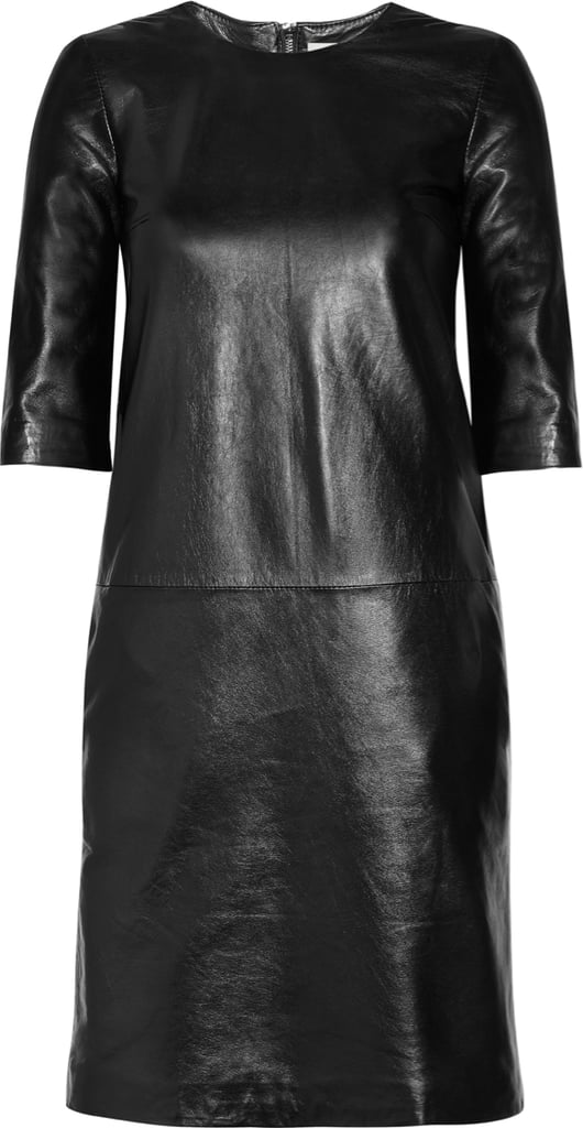 Iris & Ink Leather Day Dress ($520)