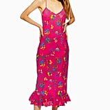 Petite Bright Floral Slip Dress