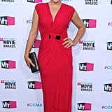 Busy Philipps was glamorous in red.