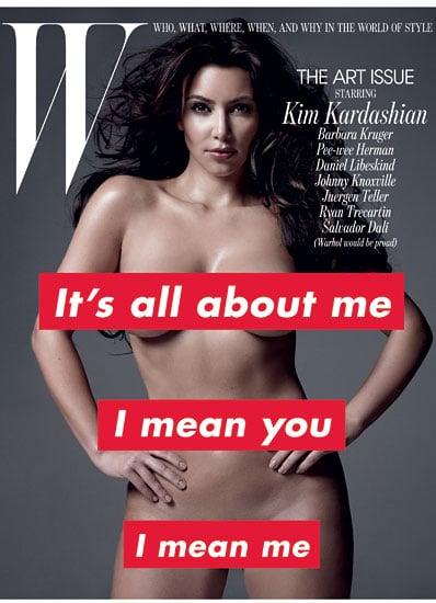 Kim Kardashian bares all for W-november 2010
