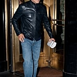 George Clooney left his NYC hotel for an evening out with friends in Manhattan.