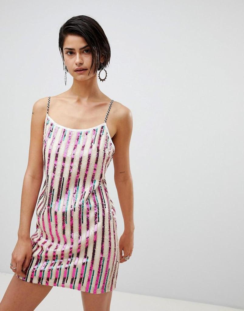 fc6ed115 Ragyard Striped Sequin Mini Dress | Kendall Jenner's Striped Ralph ...