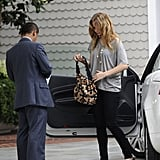 Jennifer Lawrence arrived at Shutters on the Beach in LA.