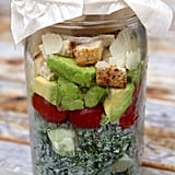 Chicken Caesar Mason Jar Salad