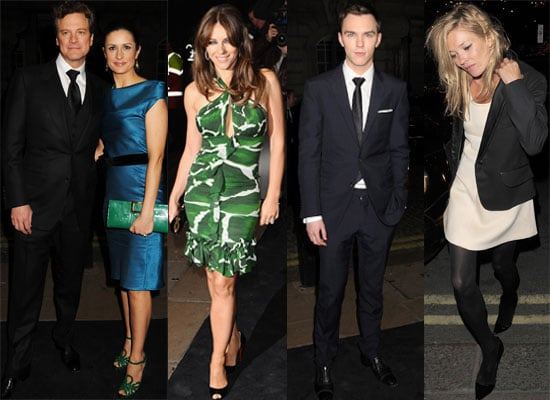 Photos and Video Interviews of Celebs at A Single Man UK Premiere in London Including Colin Firth, Nicholas Hoult, Kate Moss