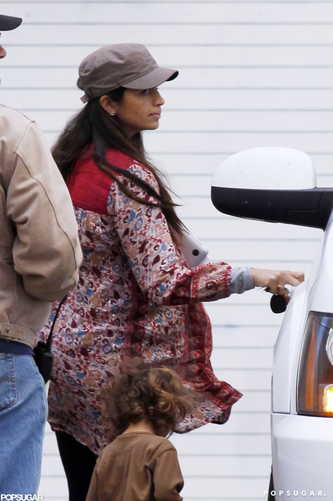Pregnant Camila Alves visited Matthew McConaughey.