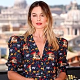 Margot Robbie at the Once Upon a Time in Hollywood photocall in Rome.