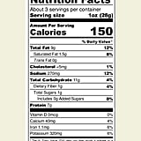 Nutrition Facts For Biena Baked Chickpea Puffs in Aged White Cheddar