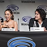 Pictured: Lindsey Morgan and Bob Morley.