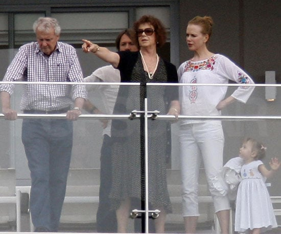 Slide Photo of Nicole Kidman in Australia Over Christmas