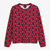 Monki Dancing Trees Christmas Jumper