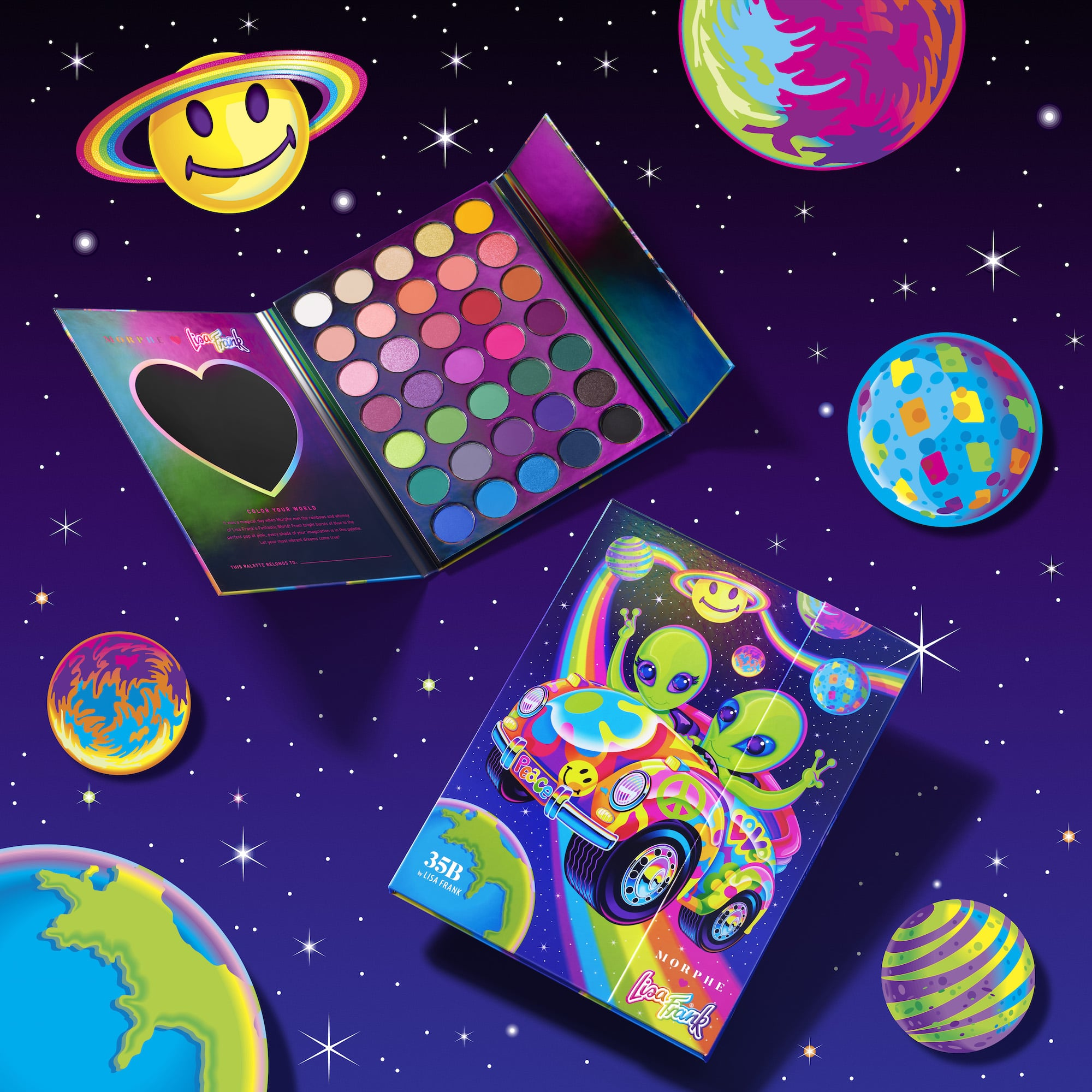 Get A First Look At The Morphe X Lisa Frank Makeup Products Popsugar Beauty When urban outfitters licensed her designs and started carrying a lisa frank line in 2014, the company got permission to film a short. morphe x lisa frank makeup