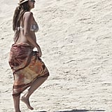 Jessica Alba Shows Her Baby Bump in a Bikini While on Vacation in Mexico!