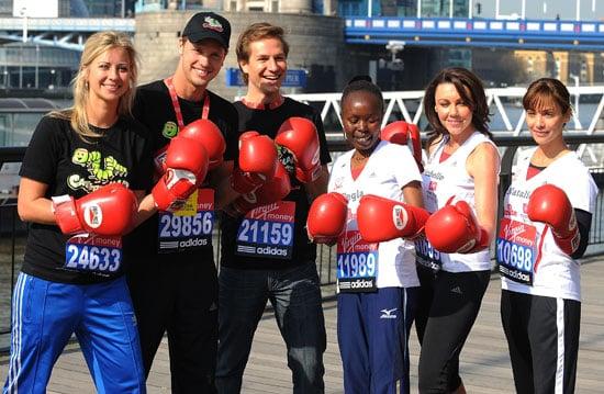 Photos of 2010 London Marathon Celebrity Runners Natalie Imbruglia, Michelle Heaton, Sam Branson, Holly Branson
