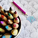 Try using a colouring book to de-stress.