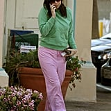 Minnie Driver is learning how to live in sweats.