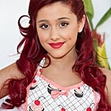 Ariana Grande With Curly Red Hair and Side Part in 2011
