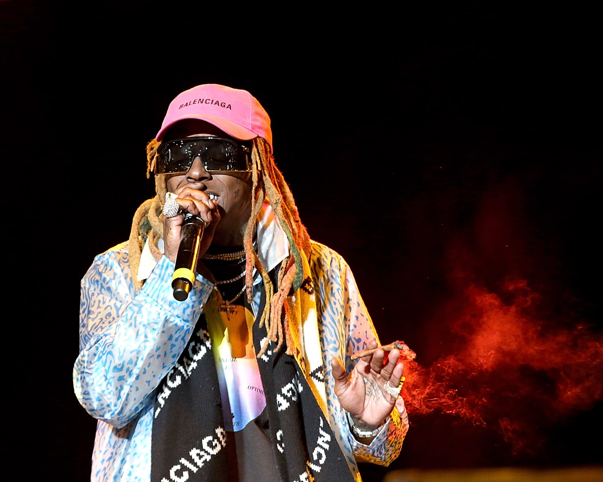 HOUSTON, TEXAS - NOVEMBER 17:  Lil Wayne performs in concert during the inaugural Astroworld Festival at NRG Park on November 17, 2018 in Houston, Texas.  (Photo by Gary Miller/Getty Images)