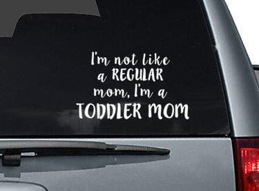 Toddler Mom Car Window Decal
