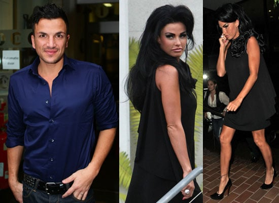 Photos of Katie Price in LA Peter Andre in London