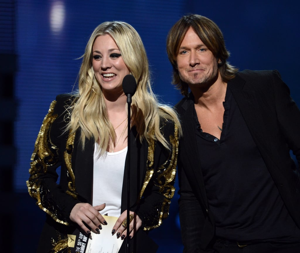 Kaley Cuoco and Keith Urban presented together.