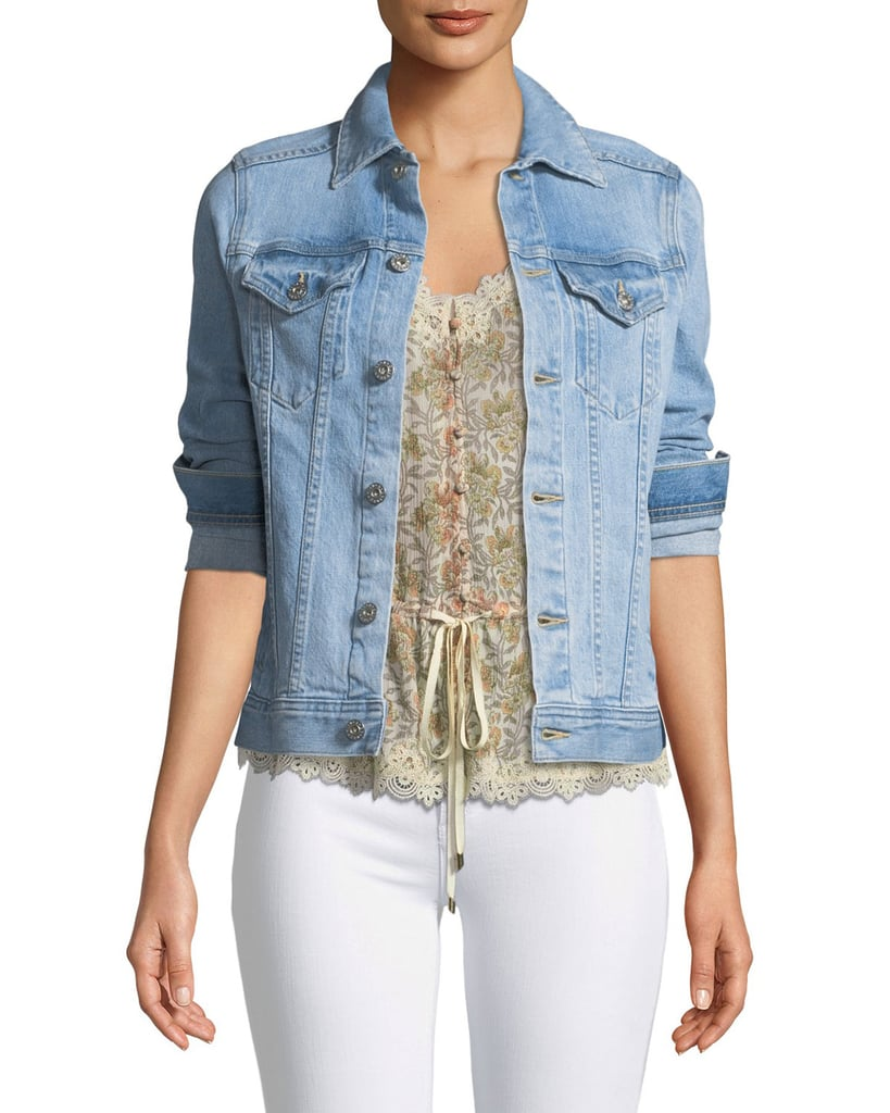 AG Jeans Mya Light-Wash Denim Jacket