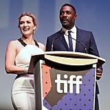 With Idris Elba