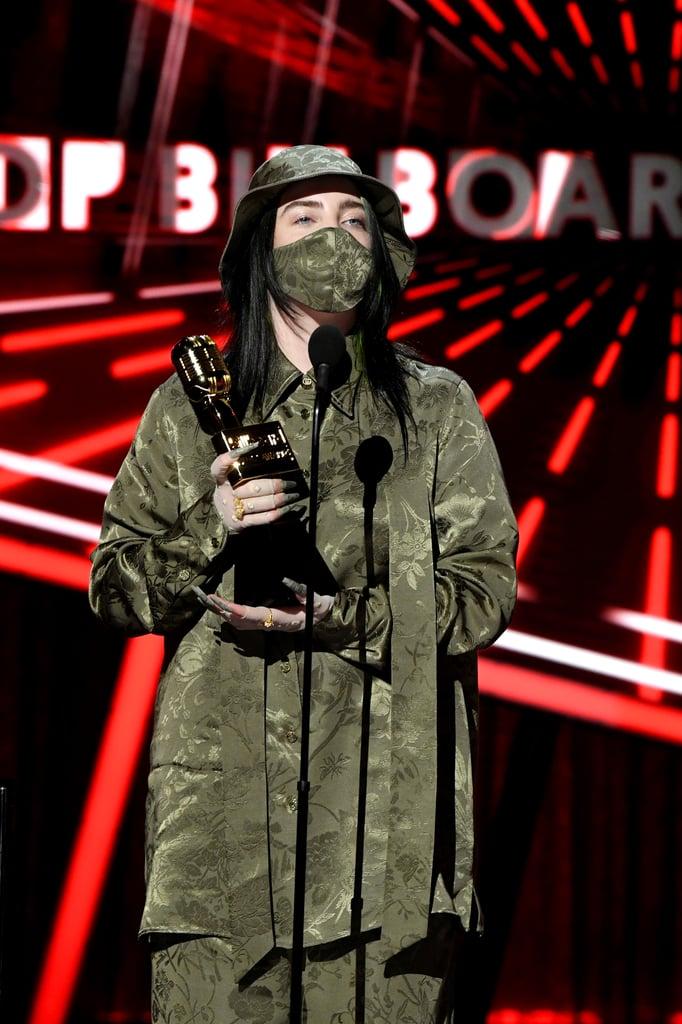 Billie Eilish Wearing 2020 Gucci at Billboard Music Awards
