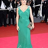 Salma Hayek Is Exciting in Emerald