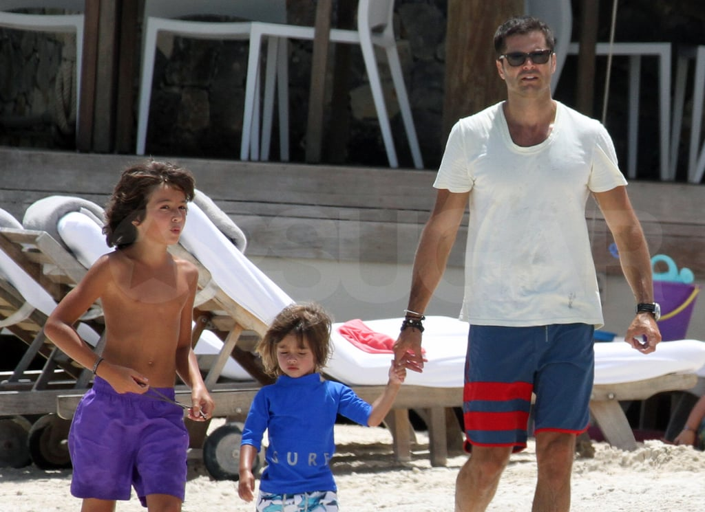 David Charvet and his kids.