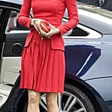 Kate Middleton stepped out in red.