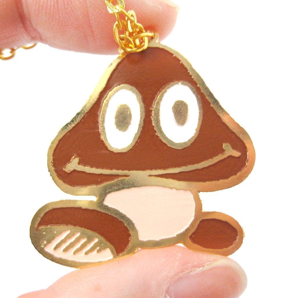 Super Mario Goomba Mushroom Necklace ($18)