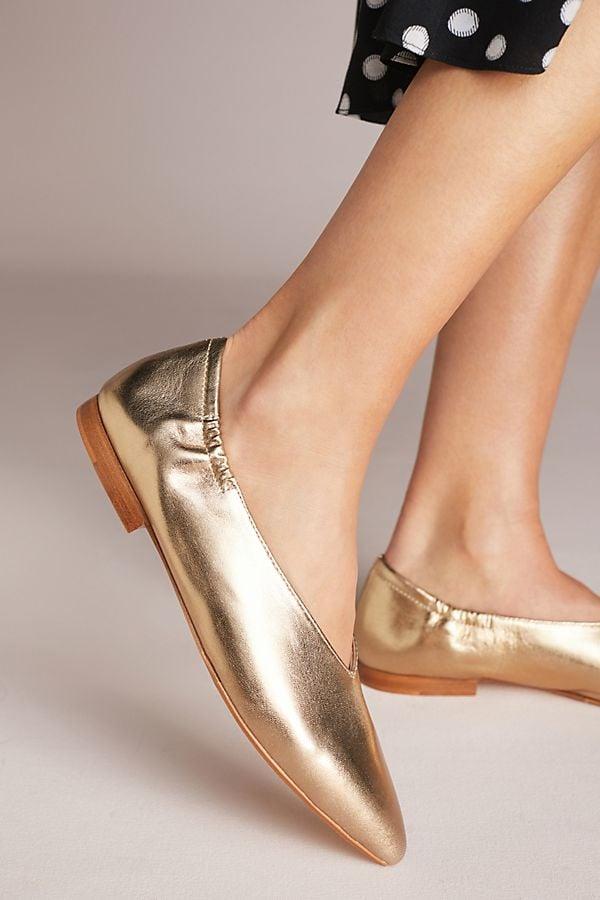 6d89d0991 Pour La Victoire Colt Ballet Flats | Pippa Middleton Gold Flats ...