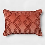 THR Rose Velvet Chenille Oblong Dec Pillow