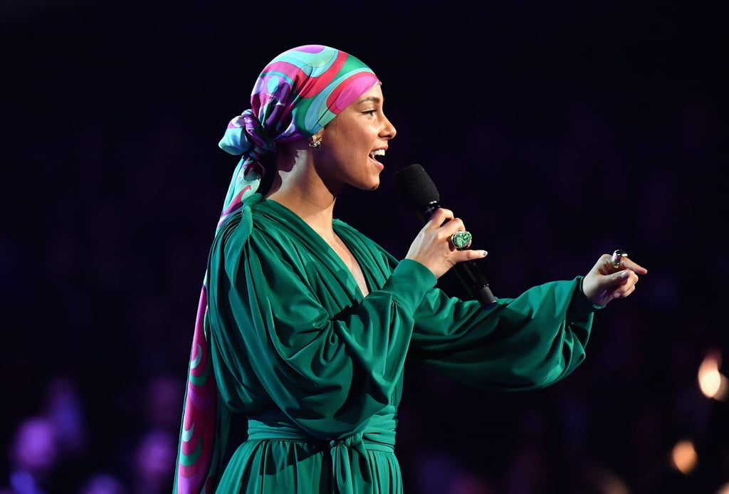 Alicia Keys's Hair Wrap at 2019 Grammys
