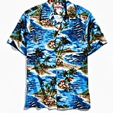 RJC Hawaii Cotton Broadcloth Short Sleeve Button-Down Shirt