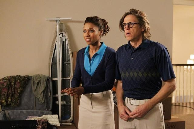 Toks Olagundoye and Simon Templeman on The Neighbors.