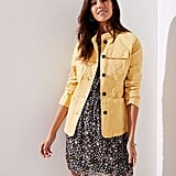 Loft Stretch Cotton Utility Jacket