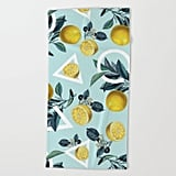 Society 6 Geometric and Lemon Beach Towel