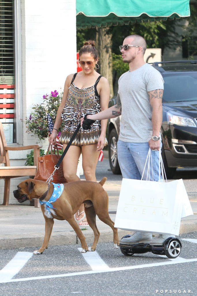 Jennifer Lopez and Casper Smart in the Hamptons