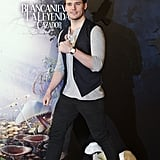 Sam Claflin was in good spirits at the Snow White and the Huntsman photocall in Madrid.