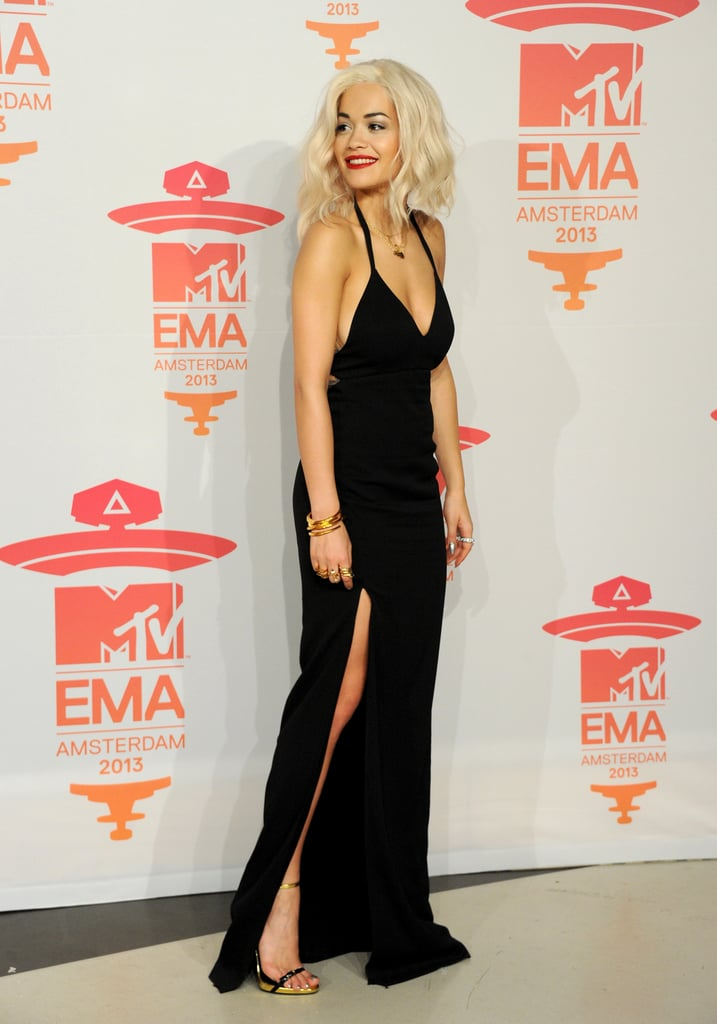 Rita Ora posed backstage at the MTV EMAs.