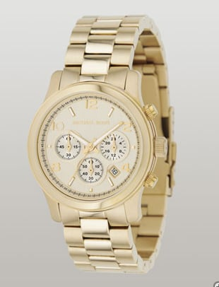 Michael Kors Midsize Shiny Gold Chronograph