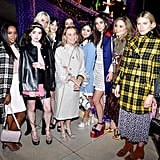 Zoey Deutch, Aja Naomi King, Maisie Williams, Miuccia Prada, Poppy Delevingne, Hailey Gates, Jenna Coleman, Dianna Agron, and Dree Hemingway