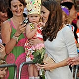 Kate meets with the crowd.
