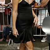 Kate Hudson showed a hint of bump in a strappy LBD in '03.