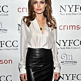 She Also Wore Gorgeous Emerald Jewels by Procop to the 2011 New York Film Critics Circle Awards