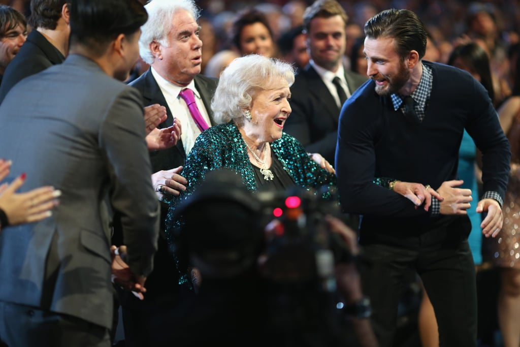 That amazing moment when Chris Evans — who definitely made 2015's show worth watching — escorted Betty White to the stage.