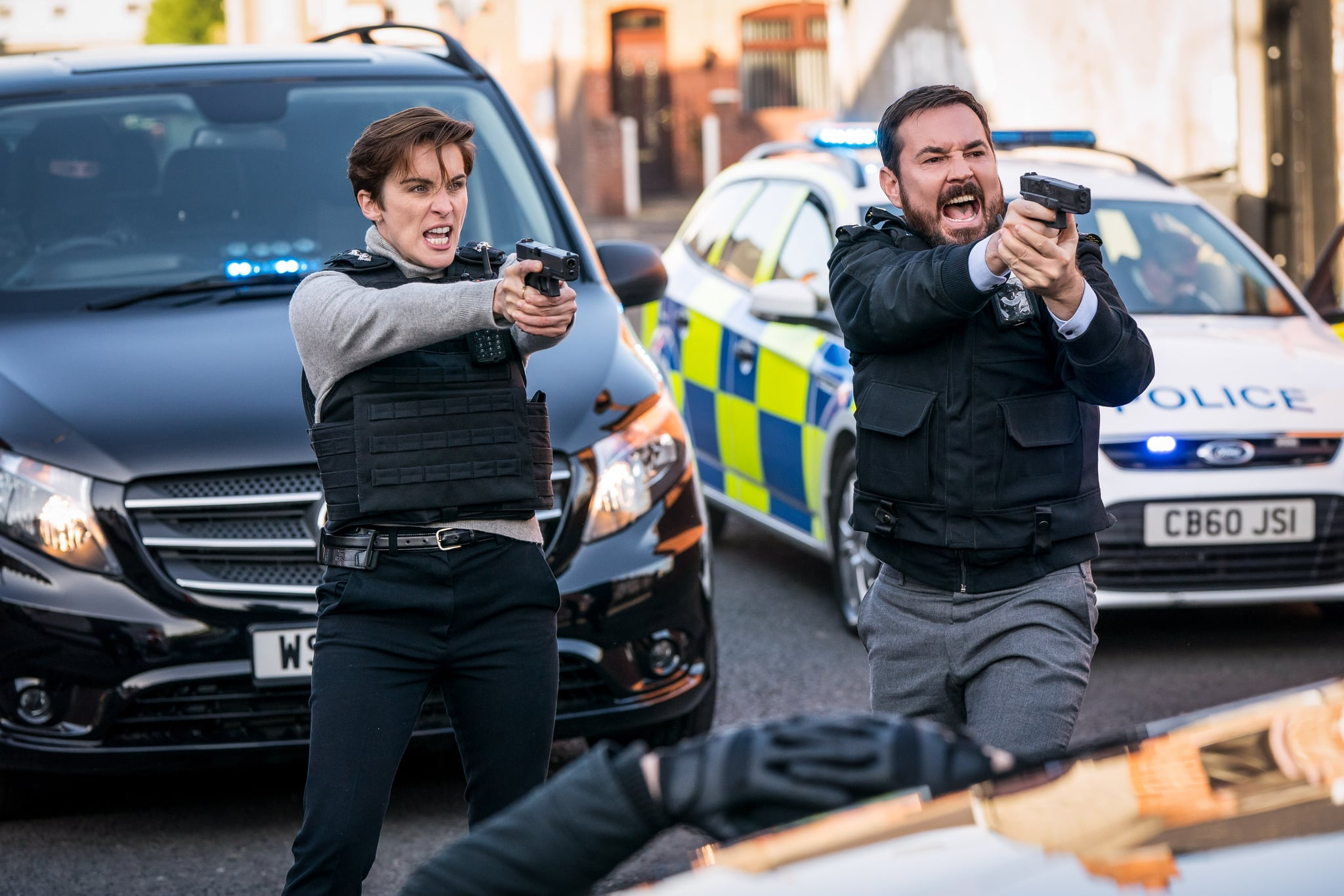Programme Name: Line of Duty S6 - TX: 02/05/2021 - Episode: Line Of Duty - Ep 7 (No. n/a) - Picture Shows:  DI Kate Fleming (VICKY MCCLURE), DI Steve Arnott (MARTIN COMPSTON) - (C) World Production - Photographer: Steffan Hill